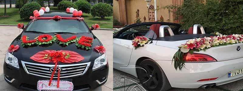 تزیین ماشین عروس در شیراز