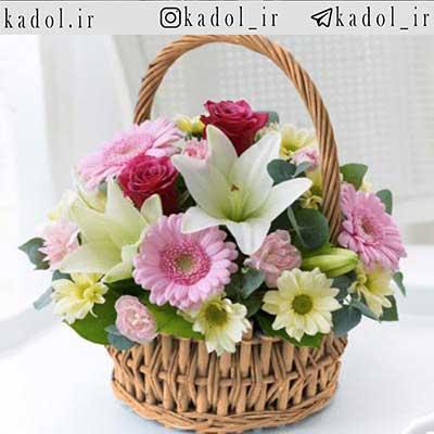 سبد گل در شیراز