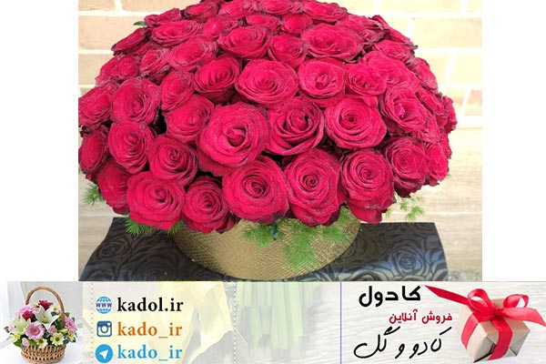 باکس گل رُز قرمز